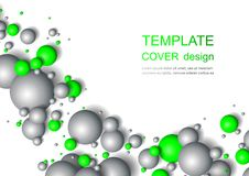 Colorful Glossy Balls Background. Falling Spheres. Abstract Candies. Vector illustration Stock Photography