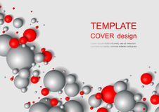 Colorful Glossy Balls Background. Falling Spheres. Abstract Candies. Vector illustration Royalty Free Stock Photography