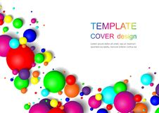 Colorful Glossy Balls Background. Falling Spheres. Abstract Candies. Vector illustration vector illustration