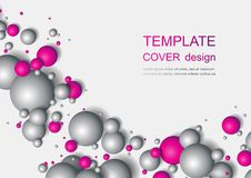 Colorful Glossy Balls Background. Falling Spheres. Abstract Candies. Vector illustration Stock Photos
