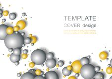 Colorful Glossy Balls Background. Falling Spheres. Abstract Candies. Vector illustration Stock Images