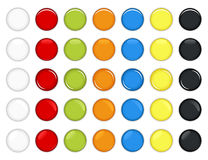 Colorful Glossy Button Vector. A set of beautiful and shinning glossy button for web2.0 usage Royalty Free Stock Image