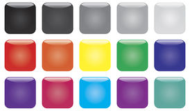 Colorful glossy buttons Vector Illustration