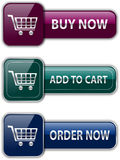 Shopping buttons Stock Photo