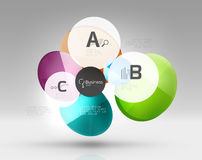 Colorful glossy circle infographics. Vector template background for workflow layout, diagram, number options or web design Royalty Free Stock Photography