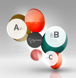 Colorful glossy circle infographics. Vector template background for workflow layout, diagram, number options or web design Royalty Free Stock Photo