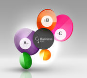 Colorful glossy circle infographics. Vector template background for workflow layout, diagram, number options or web design Stock Photos