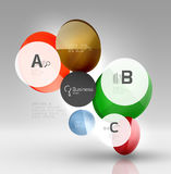 Colorful glossy circle infographics. Vector template background for workflow layout, diagram, number options or web design Stock Photography