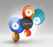 Colorful glossy circle infographics. Vector template background for workflow layout, diagram, number options or web design Stock Images