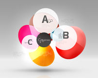 Colorful glossy circle infographics Stock Photography