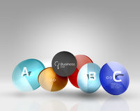 Colorful glossy circle infographics Royalty Free Stock Photography