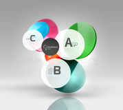 Colorful glossy circle infographics. Vector template background for workflow layout, diagram, number options or web design Royalty Free Stock Photos
