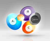 Colorful glossy circle infographics. Vector template background for workflow layout, diagram, number options or web design Stock Photo