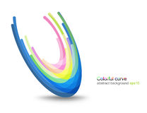 Colorful glossy concave scene Stock Image