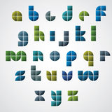 Colorful glossy geometric smooth comic font, bright lowercase le Royalty Free Stock Photos