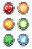 Colorful glossy icons Stock Image