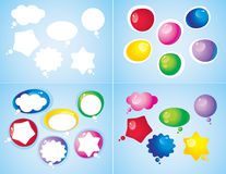 Colorful glossy icons Stock Photography