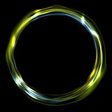 Colorful glossy iridescent ring circle. Background. Vector electric neon round circle shape design Stock Photos