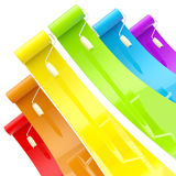 Colorful glossy paint rollers with color strokes Stock Image