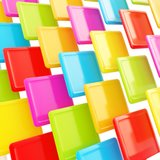 Colorful glossy plates as abstract background Royalty Free Stock Images