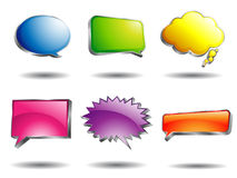 Colorful Glossy Speech Bubble Royalty Free Stock Photos