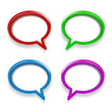 Colorful glossy speech bubbles Royalty Free Stock Image