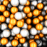 Colorful glossy spheres abstract background Stock Photos