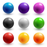 Colorful glossy spheres Royalty Free Stock Photos