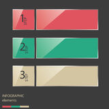 Colorful glossy style number options banner & card. Stock Images