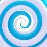 Colorful glossy twirl as an abstract background. Colorful glossy blue and white twirl as an abstract background Stock Photo