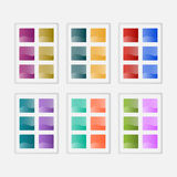 Colorful glossy web buttons Stock Photos