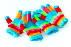 Colorful glove frabic Stock Photos