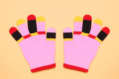 Colorful gloves Royalty Free Stock Photos