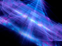 Colorful glowing big data fractal concept Stock Photos