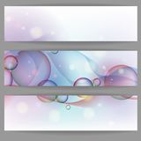 Colorful Glowing Bubbles Banner. Stock Photos