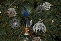 Colorful glowing christmas decorations Royalty Free Stock Photography