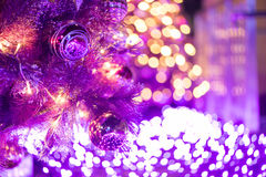 Colorful Glowing Christmas Light Royalty Free Stock Photography
