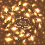 Colorful Glowing Christmas Lights.Vector elements can be used as backdrop for new Year decoration Stock Photo