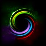 Colorful Glowing CIrcle Stock Image