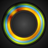 Colorful glowing circle vector logo Stock Photography