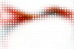 Colorful Glowing Dots Layout Stock Photo