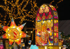 Colorful, glowing lanterns Stock Photography
