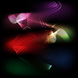 Colorful glowing lines art background Royalty Free Stock Images