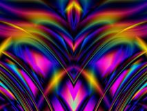 Colorful Glowing Lines Waves Royalty Free Stock Image