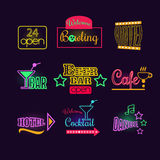 Colorful Glowing Neon Lights Royalty Free Stock Photography