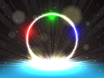Colorful glowing ring Stock Photography