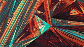 Colorful glowing triangles abstract background Royalty Free Stock Image