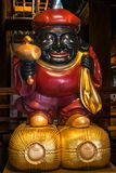 Colorful God Statue at Kiyomizu-dera Buddhist Temple, Kyot. Colorful God Statue at the main temple of the famous Kiyomizu-dera Buddhist Temple in Gion District royalty free stock photography