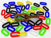 Colorful gold and black 3d chain Stock Photography