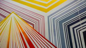 Colorful gold,blue , yellow, grey line pattern stock photography